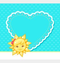 Sun and heart vector