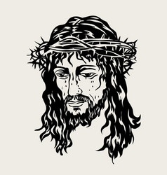 the face of the lord jesus passion vector image