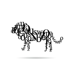 Typography lion abstract vector