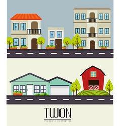 Urban design vector image vector image