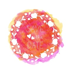 Watercolor flower banner vector image
