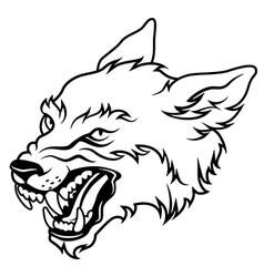 werewolf black vector image