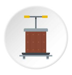 Wine press icon circle vector
