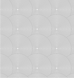 Slim gray striped overlapped circles in row vector