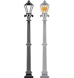 City streetlamp set vector