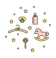 cute baby line icon vector image