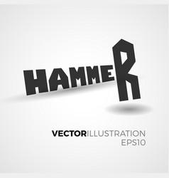 hammer lettering concept vector image