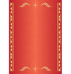 elegant red decorative card with tracery vector image
