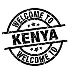 Welcome to kenya black stamp vector
