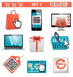 Shopping icons set 2 vector