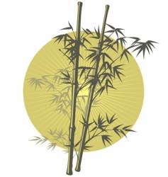 Asian bamboo illustration vector