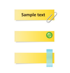 Yellow notes vector
