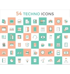 Business logo icons set objects techno vector