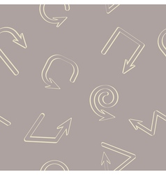 Seamless background with arrows vector