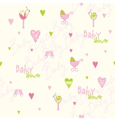 Baby shower seamless pattern vector