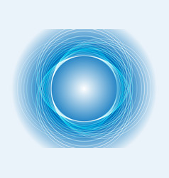 abstract blue light circle background vector image vector image