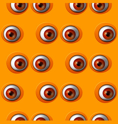 abstract red eye seamless pattern vector image