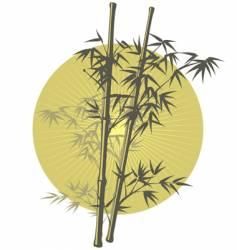 Asian bamboo illustration vector