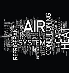 Auto hvac text background word cloud concept vector