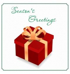 Big gift box vector image vector image