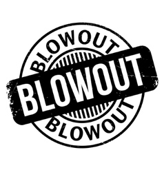 Blowout rubber stamp vector