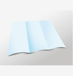 Blue folded paper vector