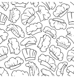 Chef hat baker toque cook cap seamless pattern vector