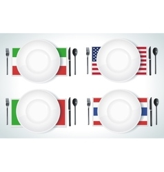 Clean plate with knife and fork vector image vector image