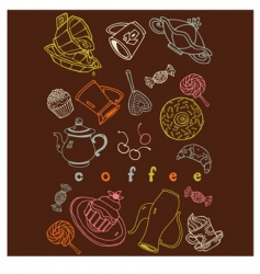 coffee sweets vector image vector image