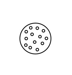 cookie icon vector image vector image