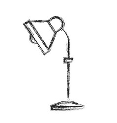 desk lamp electricity equipment sketch vector image vector image