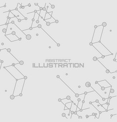 Geometric lines and dots vector
