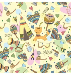 Indian doodle pattern vector image vector image
