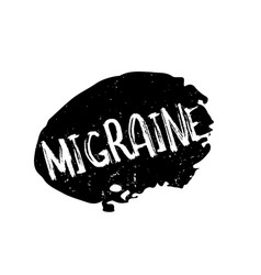Migraine rubber stamp vector