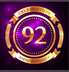 Ninety two years anniversary celebration with vector