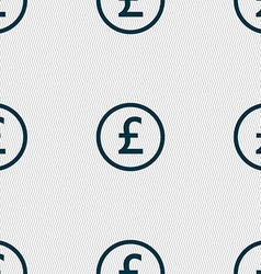 Pound sterling icon sign Seamless abstract vector image