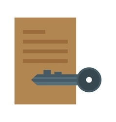 Private Document vector image
