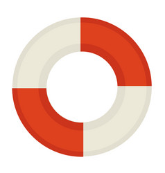 Red and white life saver vector