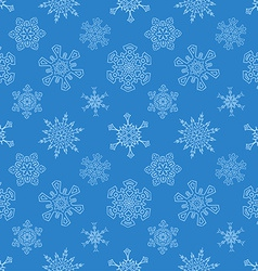 Seamless Christmas blue pattern with drawn vector image vector image