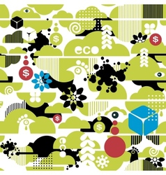 Seamless pattern of ecological background vector image