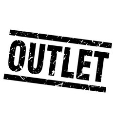 Square grunge black outlet stamp vector