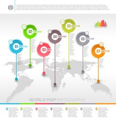 Template design world map infographic vector image