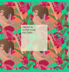 Tropical superstar pattern vector