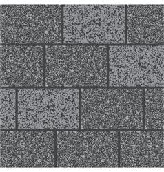 Wall of gray granit vector