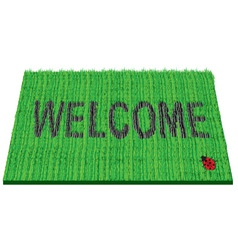 Welcome rug vector