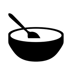 Soup bowl icon image vector