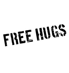 Free hugs rubber stamp vector