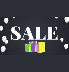 Black sale background white text sale with vector