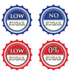 Low and no sugar label set vector