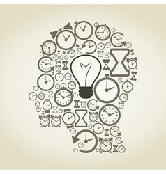 Hours a head vector image
